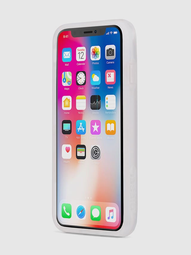 Diesel - BLAH BLAH BLAH IPHONE X CASE, Weiß/Silber - Schutzhüllen - Image 3