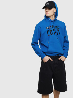 S-GIRK-HOOD, Blau - Sweatshirts