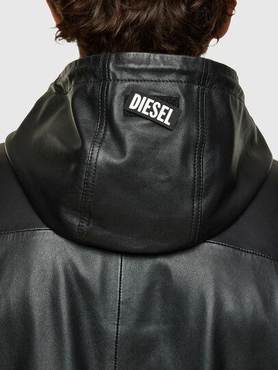 Diesel - L-CIRCLE, Schwarz - Lederjacken - Image 4