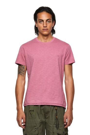 T-Shirt mit doppeltem Saum aus genoppter Baumwolle