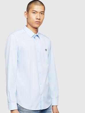 S-BILL, Azurblau - Hemden