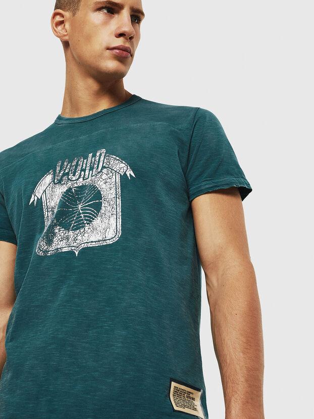 T-DIEGO-CUT-AC, Marineblau - T-Shirts