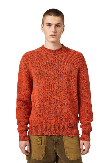 Mélange-Pullover im Used-Look