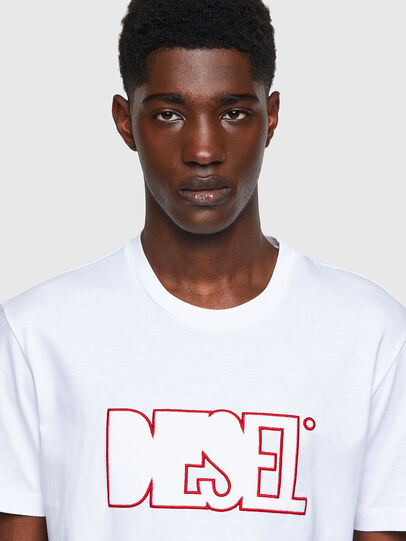 Diesel - T-DIEGOS-B8, Rot/Weiss - T-Shirts - Image 3