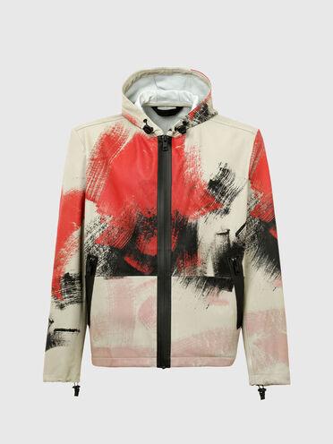 Jacke aus bedrucktem Schafleder