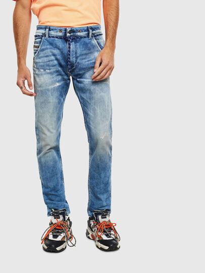Diesel - Krooley JoggJeans 0099Q, Mittelblau - Jeans - Image 1