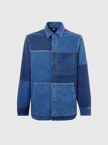 Hemdjacke im Patchworkdesign aus JoggJeans®-Material