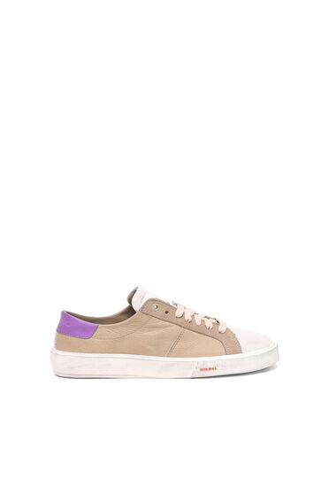 Low Top-Sneakers aus gewalktem Leder