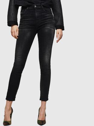 Babhila High 0092B, Schwarz/Dunkelgrau - Jeans