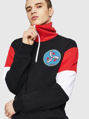 S-LEONID, Schwarz/ Rot - Sweatshirts