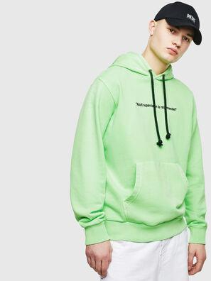 S-GIRK-HOOD-FLUO, Neongrün - Sweatshirts