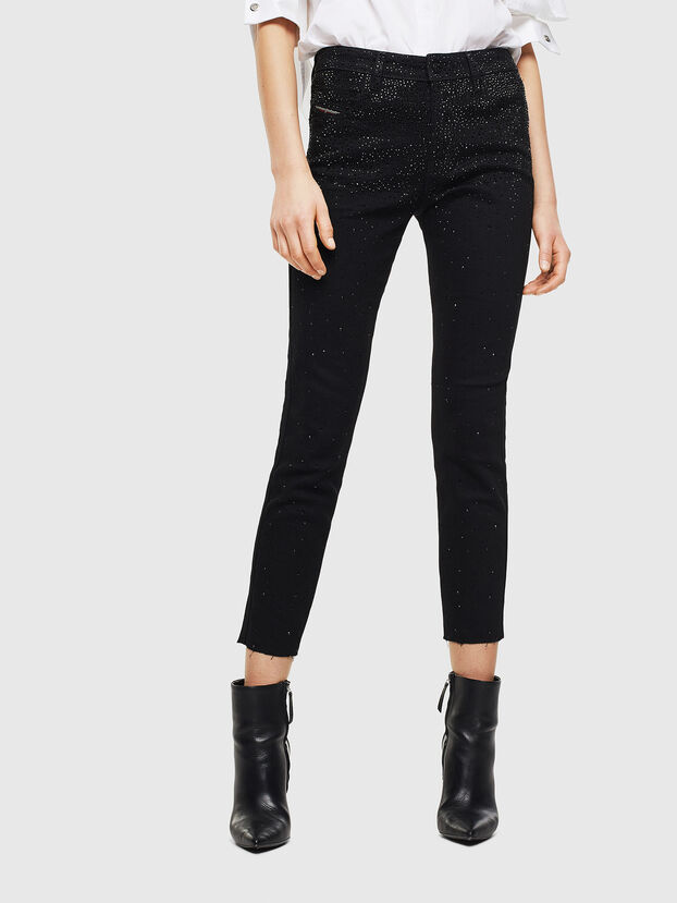 Babhila 0093R, Schwarz/Dunkelgrau - Jeans