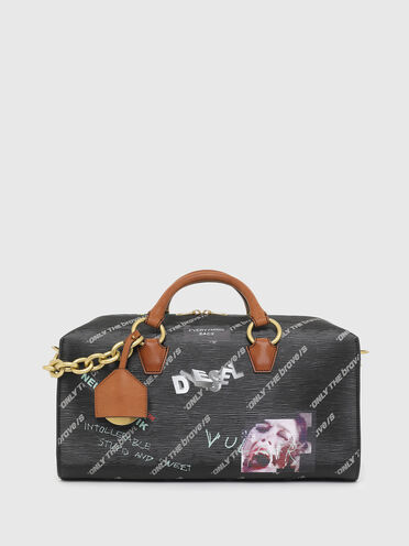 Reisetasche mit strukturierter Oberfläche Aufdruck im Graffiti-Style