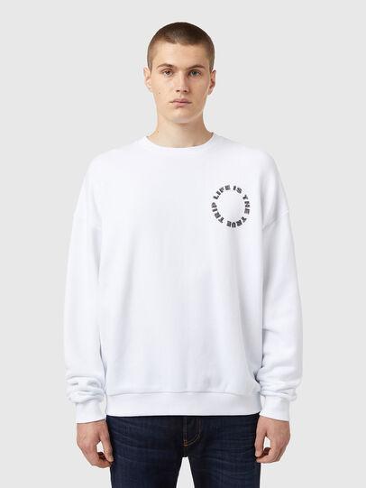 Diesel - S-MART-B3, Weiß - Sweatshirts - Image 1