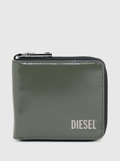 Diesel - HIRESH XS ZIPPI, Armeegrün - Portemonnaies Zip-Around - Image 1