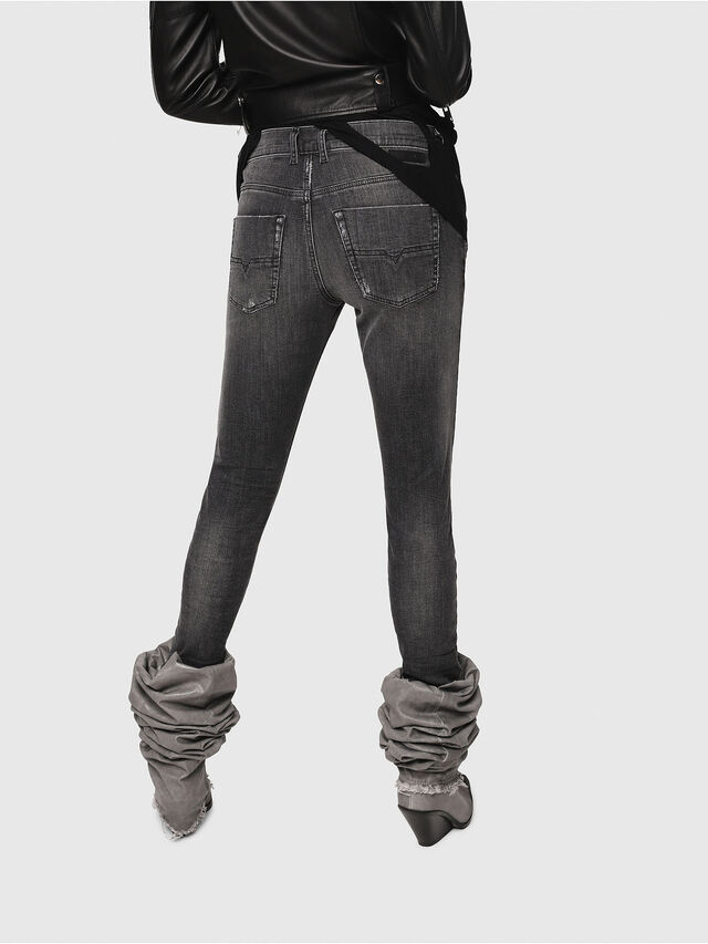 Diesel - Krailey JoggJeans 0077T, Schwarz/Dunkelgrau - Jeans - Image 2