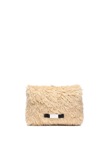Crossbody-Tasche mit Kunstfell