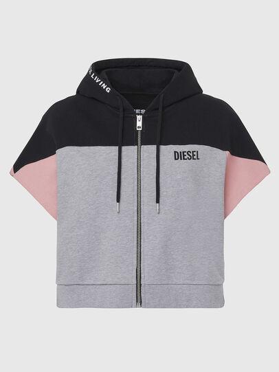 Diesel - UFLT-PHYLOSH-HOOD, Grau/Schwarz - Sweatshirts - Image 1