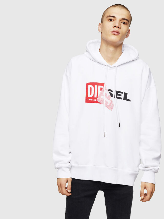 Diesel - S-ALBY, Weiß - Sweatshirts - Image 1