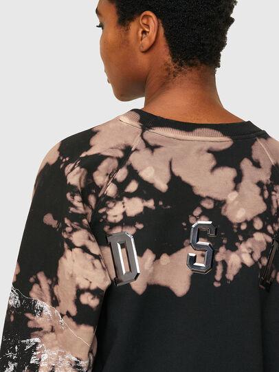 Diesel - F-FABLE, Schwarz/Rosa - Sweatshirts - Image 4