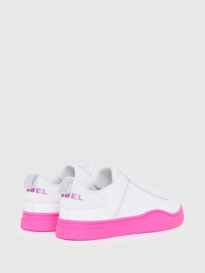 Diesel - S-CLEVER LOW LACE W, Weiss/Rosa - Sneakers - Image 3