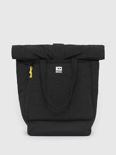 Rucksack mit Rollöffnung aus Nylon mit Wasch-Effekt