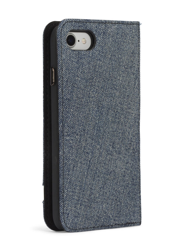 Diesel - DENIM IPHONE 8 PLUS/7 PLUS FOLIO, Jeansblau - Klappcover - Image 7
