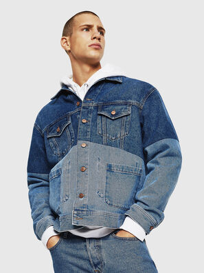 D-PUF, Mittelblau - Denim jacken