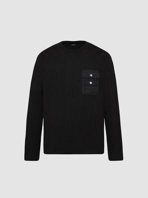 T-TASK-LS, Schwarz - T-Shirts