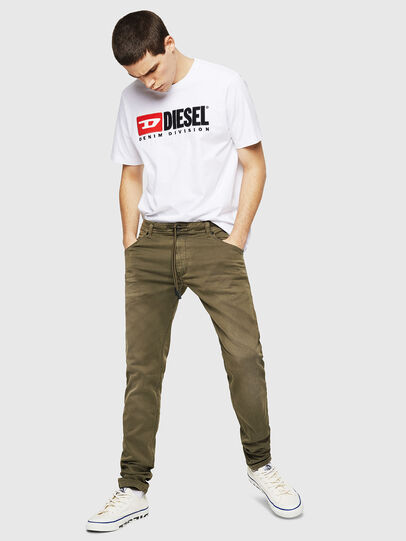 Diesel - Krooley Long JoggJeans 0670M, Armeegrün - Jeans - Image 4