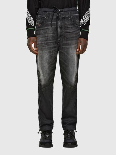Diesel - D-Skint JoggJeans 069PC, Schwarz/Dunkelgrau - Jeans - Image 1
