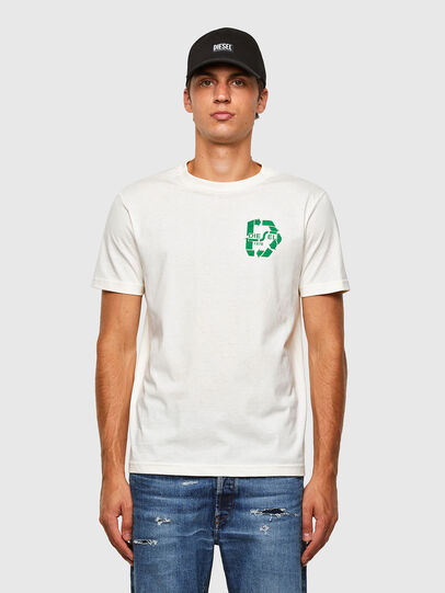 Diesel - T-JUST-N40, Weiß - T-Shirts - Image 1