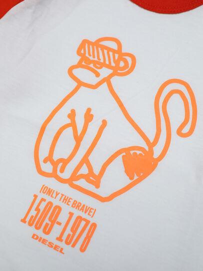 Diesel - TBALYB, Weiss/Orange - T-Shirts und Tops - Image 3