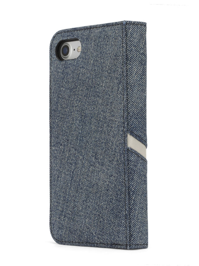 Diesel - DENIM IPHONE 8 PLUS/7 PLUS FOLIO, Jeansblau - Klappcover - Image 6