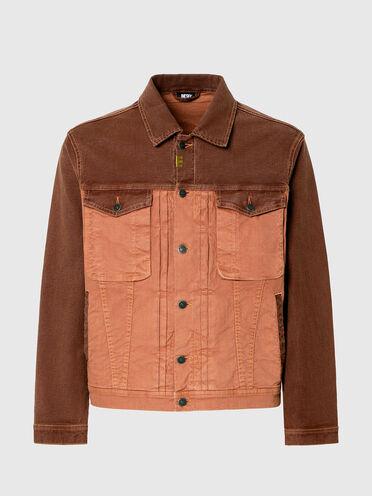Jacke aus JoggJeans®-Material in Zweitonoptik