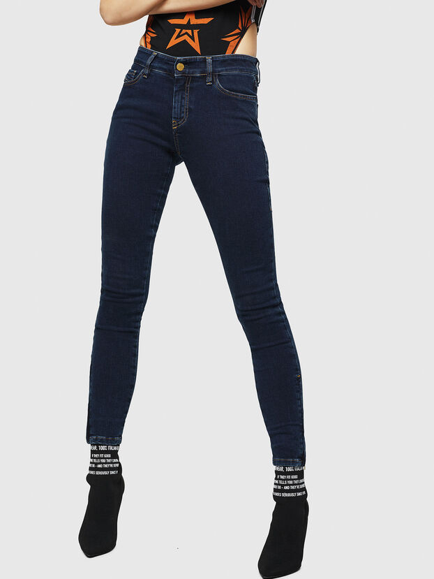 Slandy Zip 083AM, Dunkelblau - Jeans
