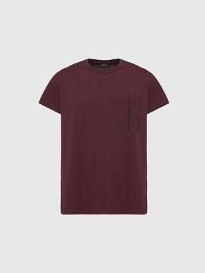 T-RUBIN-POCKET-J1, Bordeauxrot - T-Shirts