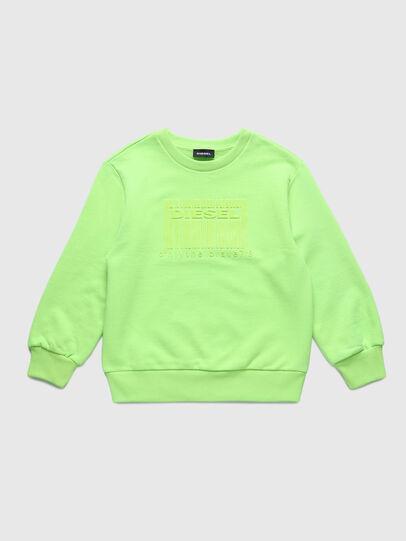 Diesel - SCOLIGCODE OVER, Neongrün - Sweatshirts - Image 1