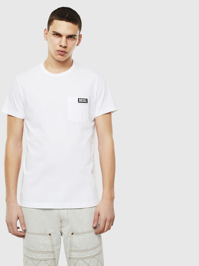 Diesel - T-WORKY-SLITS, Weiß - T-Shirts - Image 1