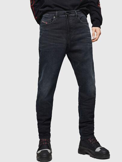 Diesel - D-Vider JoggJeans 069GE, Schwarz/Dunkelgrau - Jeans - Image 1