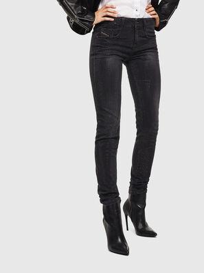 D-Ollies JoggJeans 0093H, Schwarz/Dunkelgrau - Jeans