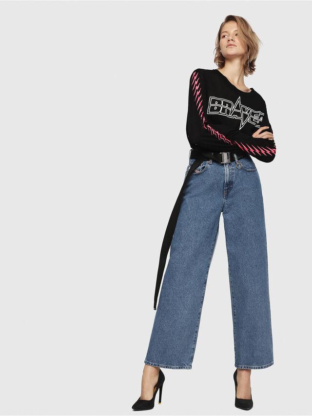 Diesel - Widee 0077V, Mittelblau - Jeans - Image 3