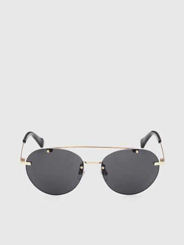 Runde Sonnenbrille mit leichter Metallkonstruktion