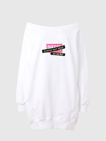 Sweatshirtkleid mit bestickten Banddetails