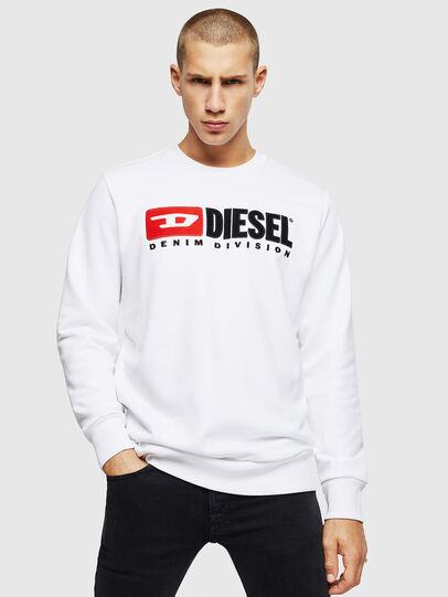 Diesel - S-GIR-DIVISION, Weiß - Sweatshirts - Image 1