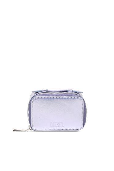 Mini-Taschenportemonnaie aus schimmerndem Leder