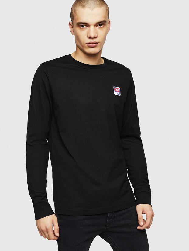 T-DIEGO-DIV-LS, Schwarz - T-Shirts