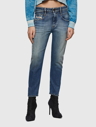 Diesel - Fayza 09A08, Mittelblau - Jeans - Image 1