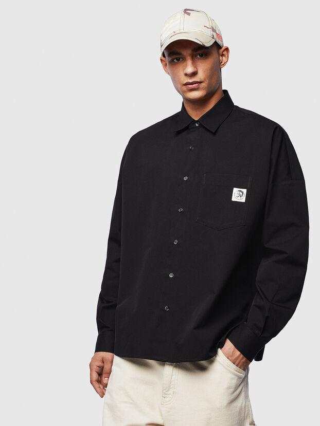 S-LOOMY, Schwarz - Hemden