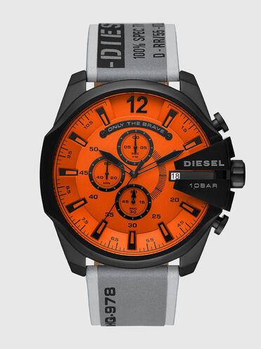 Graue Mega Chief-Armbanduhr aus Edelstahl mit Chronograph-Anzeige